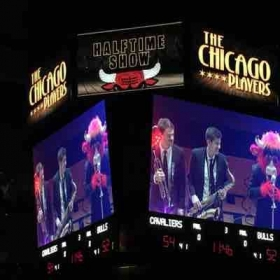 Chicago Bulls halftime show on the Jumbotron!