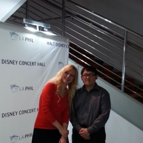 Visiting Walt Disney Concert Hall. Got to see Valentina Lisitsa play the Rachmaninoff Piano Concerto no. 2.