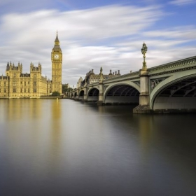 London, this is a very slow speed photo taken with 15 stops ND filter