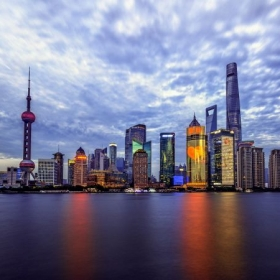 "Sunrise at ""The Bund"" in Shanghai, China"