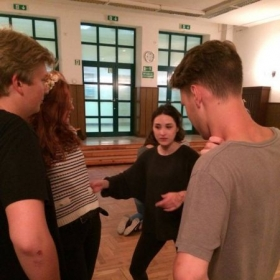 Physical Theatre workshop class in Warsaw, Poland