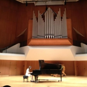 Senior piano recital in Paul F. Sharp Concert Hall at the University of Oklahoma