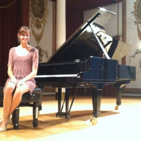 Post-recital picture at the musically historic Hadynsaal of the Esterhazy Palace in Eisenstadt, Austria