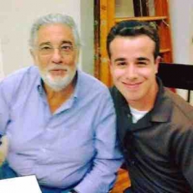 With the legendary Placido Domingo!