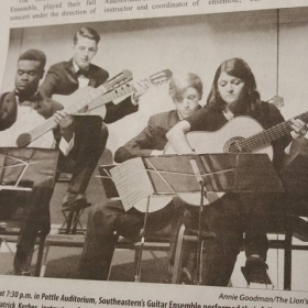 Playing with the Southeastern Guitar Ensemble