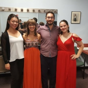 With my amazing quartet after our recital at Eastern Music Festival.