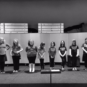 All girls vocal class, 2017.