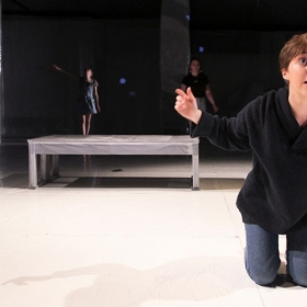 Performing as Mel in God's Ear, 2016, directed by Shira Berger.