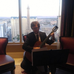Performing at my first gig in Vegas at the Bellagio.