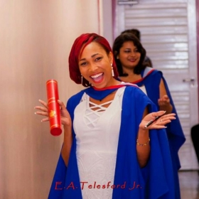 My graduation from the University of the West Indies