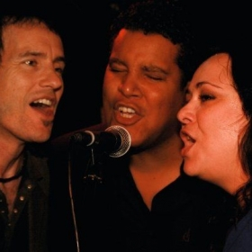 Singing with the great Michael Duff and Chris Pierce, two of Los Angeles' greatest musical treasures!