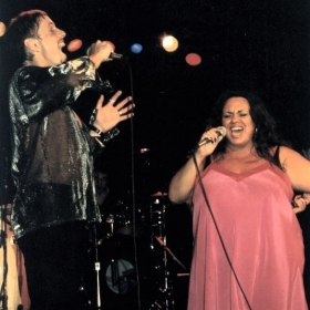 Performing with my good friend Chris Mitchell at 12th & Porter in Nashville a few years back.