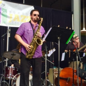 Performing my original music with my band Creosote Jazz Collective at the 2016 Tucson Jazz Festival!