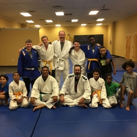 Me with some of my judo family.