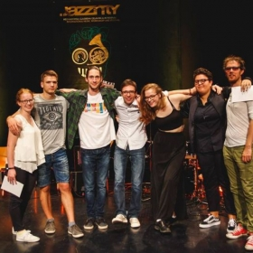 Teaching at Jazzinty Summer Camp. Photo taken with piano students at the final recital of the camp. (August 2017)