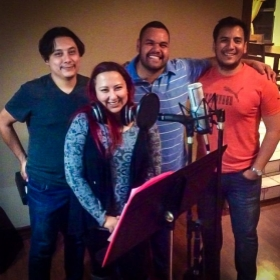 Recording session of the CD of 2017 Advent Songs