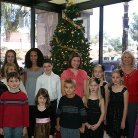 Christmas Recital at an Assisted Living Facility in Scottsdale, AZ