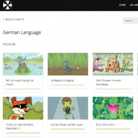 Level 3 Category Close-up: Exact Deutsche (German Language Song Set)