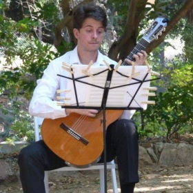 Playing Satie gymnopedies at a friend's wedding
