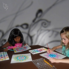Watercolors Painting / Mandala and Radial Balance - significant part in art curriculum.