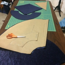 Pattern for a child's Halloween cape.
