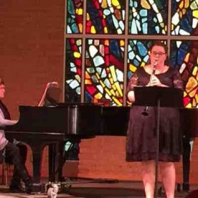 Performing at the Alumni recital