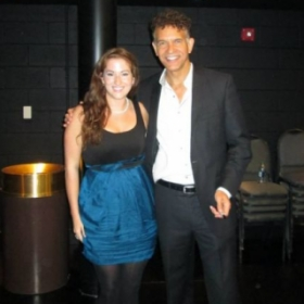 Tony Award winner Brian Stokes Mitchell and I after his master class and concert in Virginia