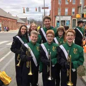 My little trumpets and me at the Saint Patrick's Day Parade in York PA