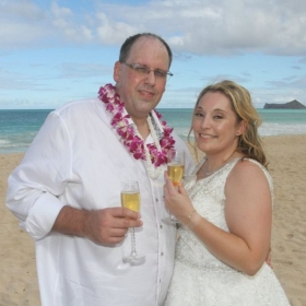 Wedding picture in Hawaii