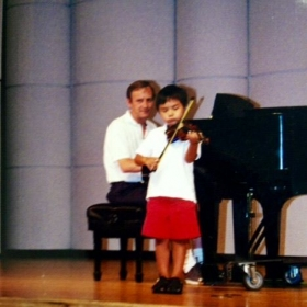 Student recital - a 4 years old performer😊