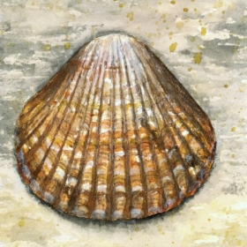 Shell watercolor painting I did while on the beach at Freeport, TX