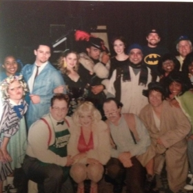 "Chiffon in ""Little Shop of Horrors."" I'm in the green sweater."