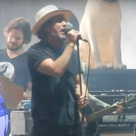 Playing with Eddie Vedder of Pearl Jam at Ohana Fest