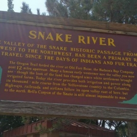 The Oregon Trail section of the Snake River located in Idaho
