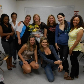 With my wonderful ESL students in Newark, NJ - last day of class!