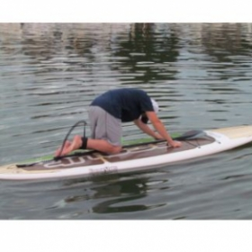 Paddleboard yoga is relaxing and fun!