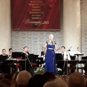 "Concert in Moscow, Russia with the folk ensemble ""Rossiya"""