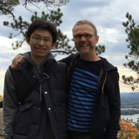 Takeshi and me in New Hampshire seeing the fall colors!