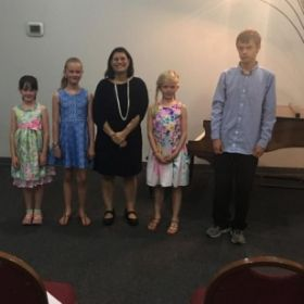 Me and my students at my Recital last May