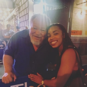 With actor, Stephen McKinley Henderson - he was my teacher and is a hero of mine.