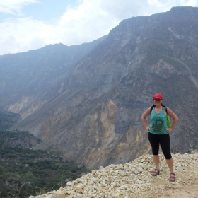 Hiking through Colca Canyon in Peru. (This hike nearly killed me, but it was worth it!)