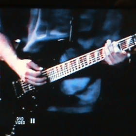 Rick playing His Jackson Guitar