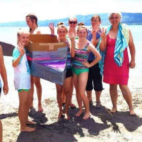 my summer camp students and I on boat race day