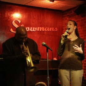 With Joey Morant at Showman's Lounge, Harlem, NYC.