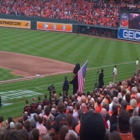 Singing at Game 2 of the ALDS 2014 (MLB Playoffs)