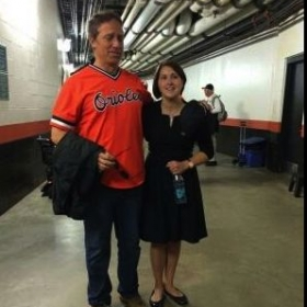 Singing with Mike Rowe (Host of Dirty Job's) at Game 2 of ALDS 2014. Go O's!
