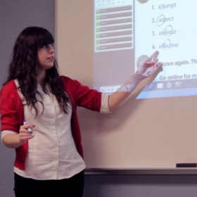 Using technology to teach an English language course at Central Michigan University.