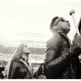 Beyoncé Knowles and myself at the SuperBowl 50 Halftime Show!