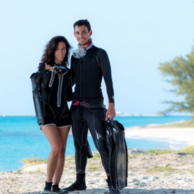 My lovely wife Danielle and I, during a workshop in the Bahamas. Photo take by the talented Zena Holloway.