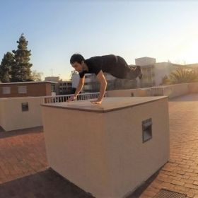 Parkour Kong Vault at SJSU.